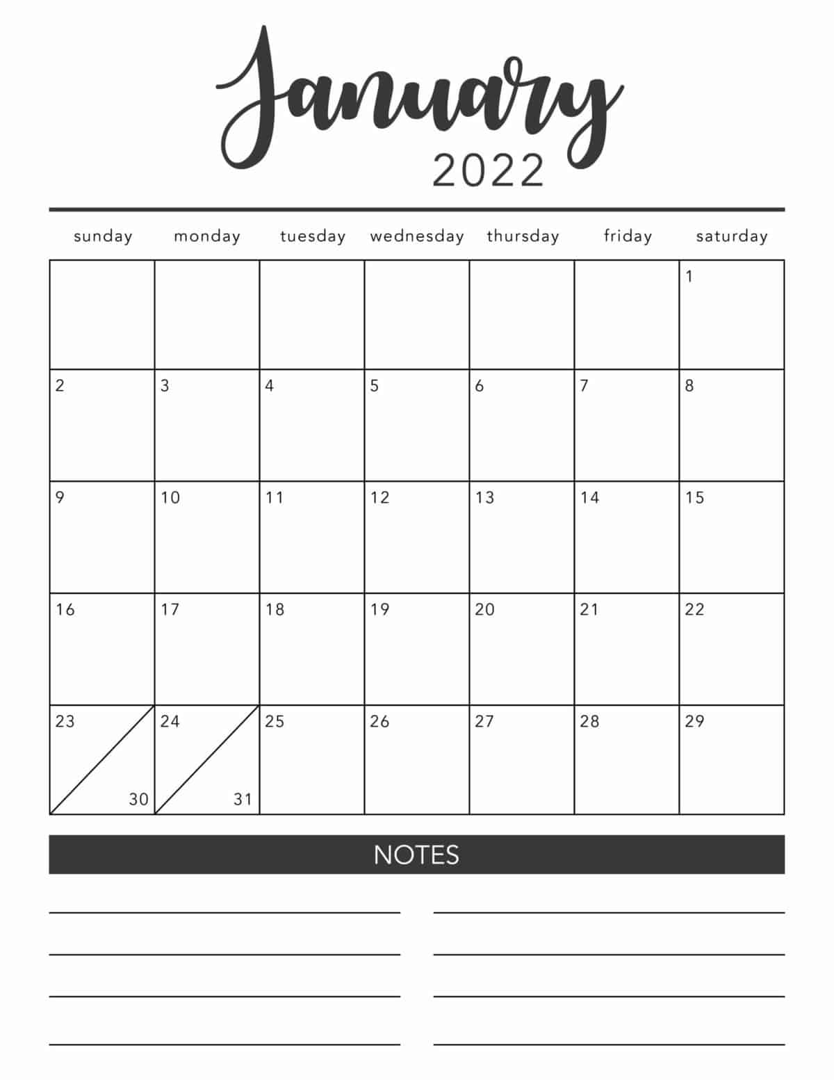 Simply print any of these templates out onto plain paper and decorate to make cute decorations. Free 2022 Printable Calendar Template 2 Colors I Heart Naptime