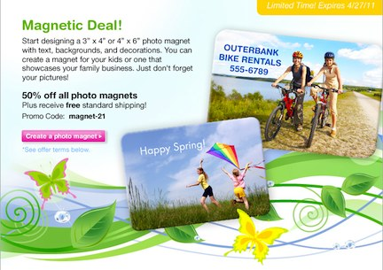 email 2 SeeHere   Photo Magnets 50% Off + Free Shipping!!