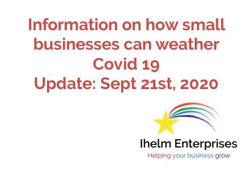 Ihelm Enterprises Covid 19 Update Sept 21