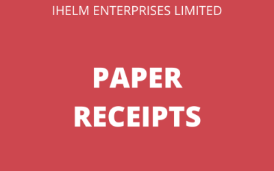Paper Receipts and what to do with them