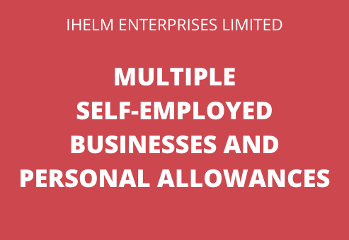 multiple self employed businesses and personal allowances