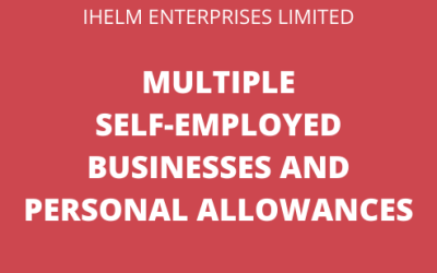 Multiple Self-Employed Businesses, Personal Allowances and Tax Returns
