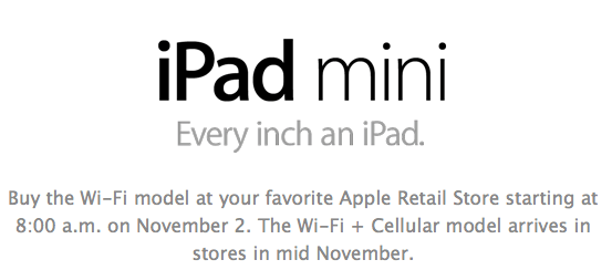 Ipad-mini-availability