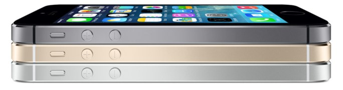 iPhone 5S in three colors