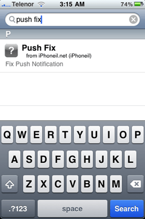 Fix Push Notifications on iPhone 3.1.2 Hacktivated