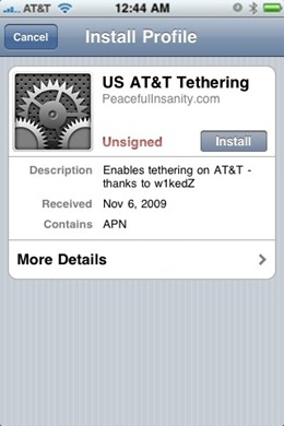 Enable Tethering on iPhone 3.1.2 Firmware with blacksn0w