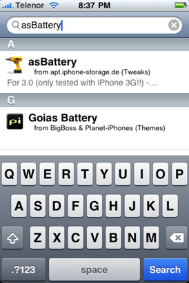 iPhone 3G/2G Battery Percentage
