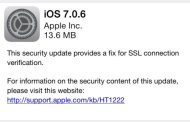 Hackers warned users about the dangers of iOS 7.0.6 update