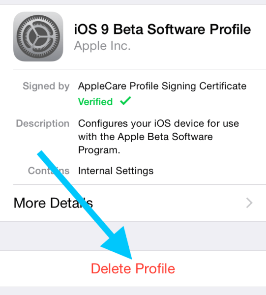 iOS-9-Public-beta-delete-profile