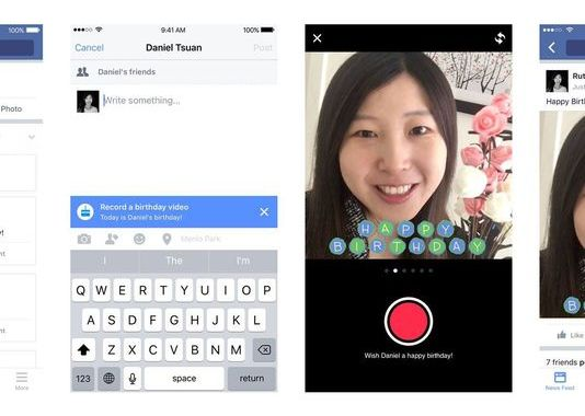 Facebook Launches New Birthday Cam Video Messages With iOS