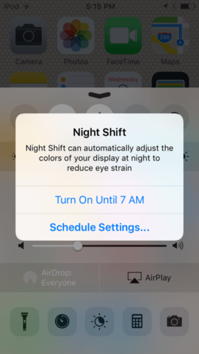 iOS-9.3-beta-5-Night-Shift-mode-enable-until-tomorrow-iPod-touch-screenshot-001