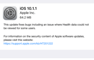 Apple Launches iOS 10.1.1 To Fix Health App Data Issues