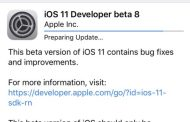Apple releases iOS 11 beta 8 for developers