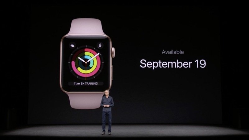 Apple Watch Series 3 With Cellular LTE Officially Introduced: Prices And Release date