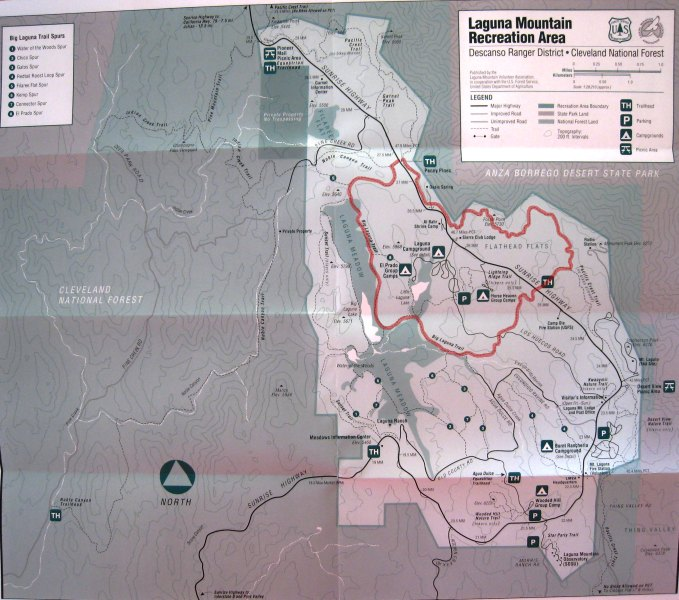 Big Laguna Trail Map   I Hike San Diego Big Laguna Trail Map