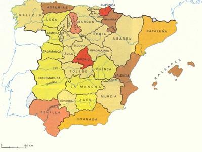 Intendencias en el XVIII. Los inicios del provincialismo español. Crédito: malaga.es