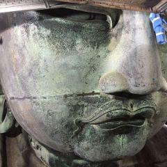 美男におわす…鎌倉大仏の横顔