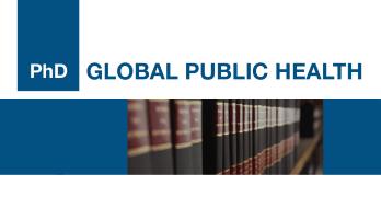 Banner do programa de doutoramento em Global Public Health