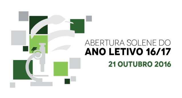 Banner da Sessão de Abertura Solene do Ano Letivo 2016/2017