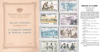 Selos Comemorativos do 1º Congresso Nacional de Medicina Tropical