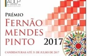 Abertas as candidaturas ao Prémio Fernão Mendes Pinto 2017