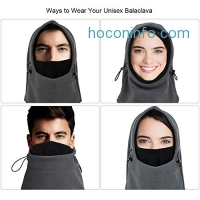 ihocon: VBIGER Balaclava Winter Windproof Fleece Face Mask 防風面罩