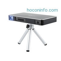 ihocon: Homeerr Video Rechargeable Multimedia Home Pico Projector, Support 1080p Full Hd Wi-Fi Wireless Connectivity, Portable Mini Projector Max Throw Screen, Osram Led Lamps Work for 30000 Hour Free Tripod