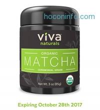 ihocon: Viva Naturals Organic Matcha Green Tea Powder [3 oz]有機抹茶粉