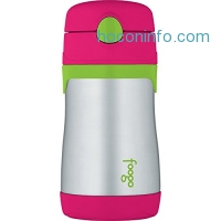 ihocon: THERMOS FOOGO Vacuum Insulated Stainless Steel 10-Ounce Straw Bottle, Watermelon/Green