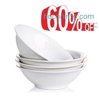 ihocon: Lifver 13-oz Porcelain Dessert/Soup/Noodle Bowl,Set of 4