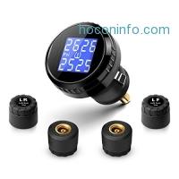 ihocon: Fullele Wireless Tire Pressure Monitoring System TPMS with 4 External Sensors (0~6 bar/0~87 psi)無線胎壓警示系統