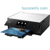 ihocon: Canon PIXMA TS9020 Wireless All-in-One Inkjet Printer (White)