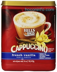ihocon: Hills Bros Cappuccino French Vanilla, 16 Ounce (Pack of 6)