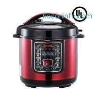 ihocon: Ewant Stainless Steel Programmable 9-in-1 Pressure Cooker with 3 Level Pressure Setting, 6 QT, Red多功能壓力鍋