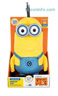 ihocon: Despicable Me Minion Tim Plush with Moving Eyes Toy Figure