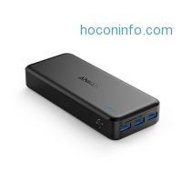 ihocon: Anker PowerCore II 20000 Portable Charger, 20000mah Power Bank with 3 PowerIQ, 6A Output, Dual Input and 4A Fast Recharging