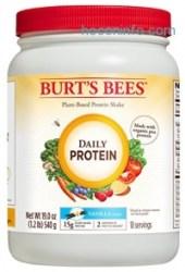 ihocon: Burt's Bees Plant-Based Protein Powder, Daily Protein, 19 Oz., Vanilla Flavor