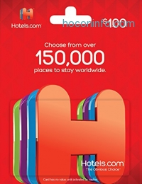 ihocon: $100 Hotels .com Gift Card只賣$80
