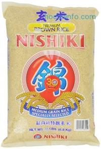 ihocon: Nishiki Premium Brown Rice, 15-Pounds Bag 糙米