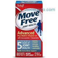 ihocon: Move Free Advanced Glucosamine Chondroitin MSM Vitamin D3 and Hyaluronic Acid Joint Supplement, 80 ct