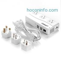 ihocon: BESTEK Voltage Converter 220V to 110V Converter with 6A 4 USB Ports and UK/AU/US/EU Travel Adapter 電壓轉換器
