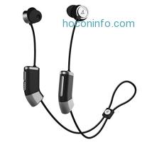 ihocon: Zipbuds 26 Bluetooth Wireless Custom Fit In-Ear Headphones: HD Stereo Sound Waterproof Sweatproof 15-Hour Supercharged Battery (Black & Space Gray)