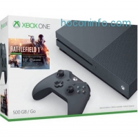 ihocon: Microsoft Xbox One S (500GB) Battlefield 1 Special Edition Bundle, Storm Grey, ZZG-00028 - Walmart.com