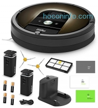 ihocon: iRobot Roomba 980 Vacuum Cleaning Robot + 2 Dual Mode Virtual Wall Barriers (With Batteries) + Extra Side Brush + High Efficiency Filter + More