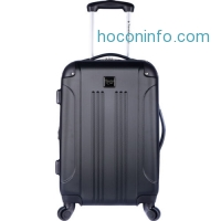 ihocon: Travelers Club Luggage Charlott 20 Expandable Hardside 5 Colors