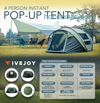 ihocon: FiveJoy Instant Pop Up Dome Tent - Easy Automatic Setup