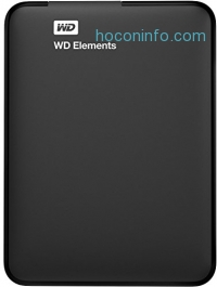 ihocon: WD 4TB Elements Portable External Hard Drive - USB 3.0 - WDBU6Y0040BBK-WESN