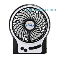 ihocon: Efluky Mini USB 3 Speeds Rechargeable Table Fan, 4.5-Inch 充電式桌上型小風扇