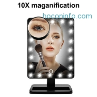 ihocon: WanEway Makeup Mirror with 20 LED Light, 12-Inch Large Screen, Touch Dimmable and Memory Function觸控光線微調化妝鏡