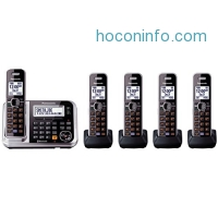 ihocon: Panasonic Link2Cell KX-TG7875S DECT 6.0 1-Line Bluetooth Cordless Phone with Enhanced Noise Reduction & Digital Answering Machine - 5 Handsets藍芽無線,含答錄功能電話